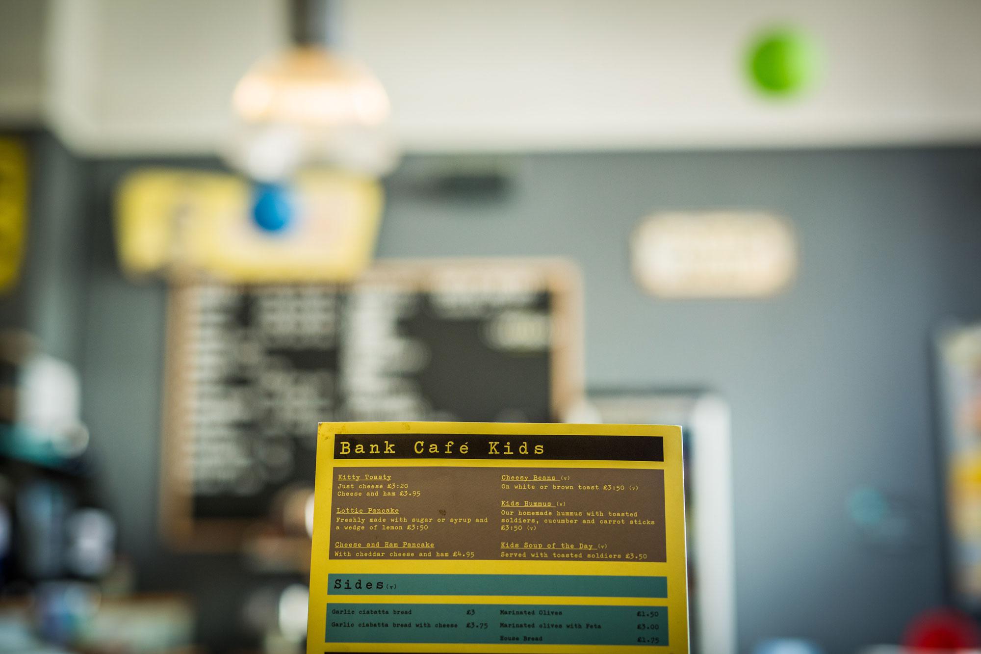 Bank Cafe Menu